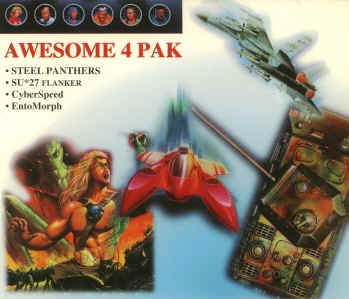 Awesome 4 Pak - Steel Panthers, SU-27 Flanker, Cyberspeed, Entomorph